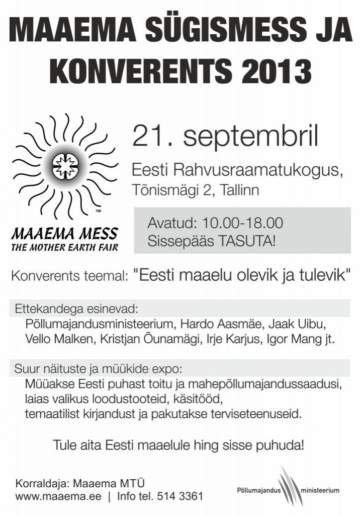 Maaema Sügismess & Konverents 2013
